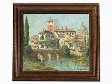 Randolf Wehn, Southern City View with River, 20th C.