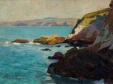 Alexandre Altmann, Painting, 'Falaise à Plomarch', 20th C.