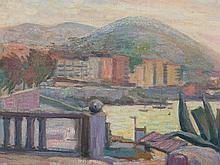 """Damian Segarra Codina, Painting """"View of Benidorm"""", around 1970"""