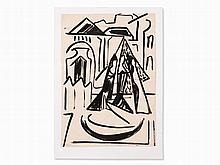Katja Meirowsky, Ink Drawing, 'Gespräch', Germany, 1949