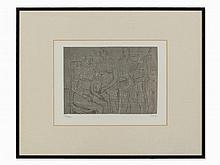 Henry Moore, Group of Figures, Lithograph, 1974