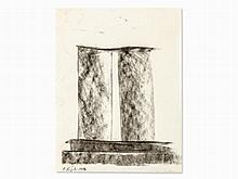 Alain Kirili (b. 1946), Design Sketch, Charcoal, 1981