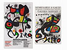 Joan Miró, 2 Exhibition Posters, Color Lithographs, 1972/79