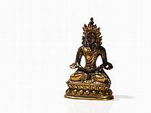 Gilt Bronze Figure of Buddha Amitayus, Sino-Tibetan, 18th C.