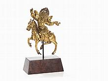 Gilt Bronze Figure of the Palden Lhamo, Sino-Tibetan, 18th C.