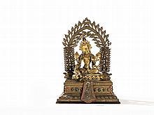 Gilt Bronze Figure of a Green Tara, Tibet, 17/18th C.