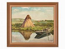 Tibor Gönczi-Gebhardt (1902-1994), River Landscape, 1943
