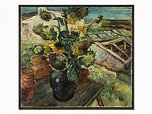 Curt Meyer-Eberhardt, Oil Painting, Sun Flowers, c. 1925