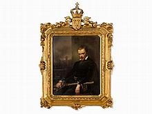 A KPM Porcelain Plaque with Portrait of Charles IX, 19th C.