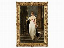 A KPM Porcelain Plaque, Luise of Prussia, 1901