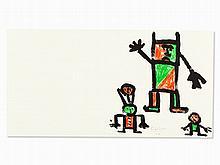 Eugène Ionesco, Color Lithograph, Figural Composition, 1980s