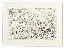 A.R. Penck (b. 1939), Etching, Figural Composition, 1980s