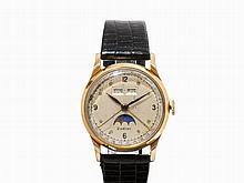 Zodiac Full Calendar Wristwatch, Switzerland, c. 1955