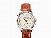 Leonidas Full Calendar Wristwatch, Switzerland, c. 1955