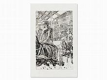 James Tissot, Ces Dames des Chars, Etching, Trial Proof, 1885