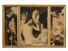 Triptych with Central Depiction of Pietà, South Germany,c. 1910