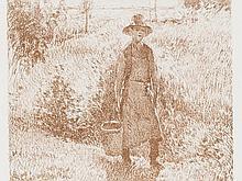 George W. Thornley & Camille Pissarro, Le Jardinier, c. 1900