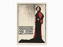 Fritz Boscovits, Moderne Kammerkunst, Lithograph, c. 1910