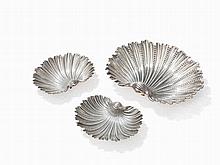 3 Silver Shell Bowls 'Arca' by Buccellati, Italy, post 1968