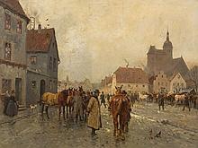 Georg Karl Koch (1857-1931), Street Scene, Painting, 20th C.