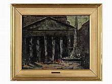 José Beulas Recasens (b. 1921), Pantheon In Rome, Oil, c. 1955
