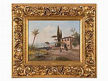 Georg Fischhof, Italian View, Painting, around 1900