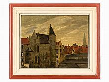 Max Volkhart (1848-1924), View of Amsterdam, 1880s
