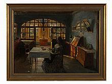 Rudolph Eichstaedt, Interior, Oil on canvas, c. 1907