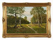 Paul Müller-Kaempff (1861-1941), Birches at the Forest, c. 1920