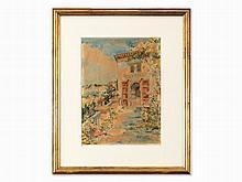 Enrique M. Higuero(1876-1975), View of the Alhambra, Watercolor