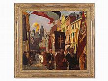 Hans Seyppel (1886-1945), Corpus Christi Procession, Oil,c.1910