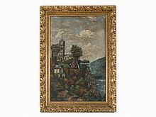 Bernhard Kretzschmar (1889-1972), Rheinstein Castle, Oil, 1906