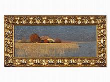 Hans Licht (1876-1935), Lakeside with Farmstead, Oil, 1899