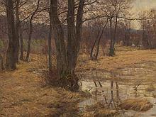 Adolf Glatte, Dachauer Moos in Autumn, Oil Painting, c. 1910