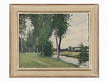 Hans (Jean) Iten (1874-1930), Landscape and River, Oil Painting