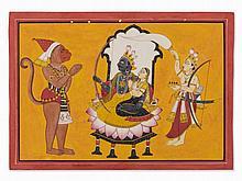 Basohli Miniature, An illustration to the Ramayana, 19th/20th C
