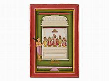 Bundi Miniature, A Brahmin Attends an Icon, c. 1840-1860