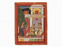 Sirohi Miniature, Folio from a Ragamala Series, 17th/18th C.