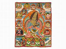 Thangka with Chemchok Heruka and his Consort in Yab-Yum, 1900