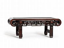 Shanghai Style Kang Table with Open Work Apron, China, c. 1800