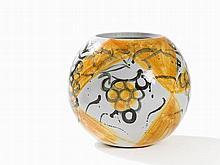 Stefan Szczesny, Spherical Vase with Polychrome Decor, 2000