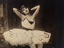 Adolphe de Meyer, Ballet Dancer, 2 Signed Photos, c. 1900