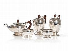 Sterling Silver Tea Set, Mappin & Webb Ltd, 1965-1974