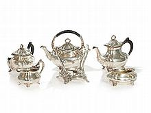 Gorham Sterling Silver Tea and Coffee Set, 5 pieces, USA, 1896