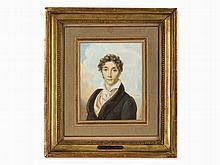Jean Baptiste Isabey (1767-1855), Portrait, Watercolor, France
