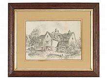 "Drawing ""An English Cottage"", early 20th Century"