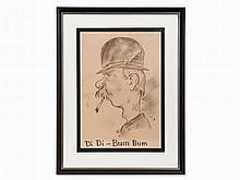 Ernst Stosch, Di Di – Bum Bum, Charcoal Drawing, Early 20th C.