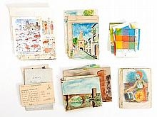 Miguel V. Bassols, Convolute of Drawings & Watercolors, 1938-40