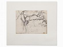 Josef Wopfner, Study of Trees at Chiemsee, Late 19th C.