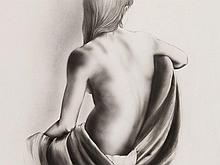 Guiseppe E. Biondo, Drawing 'Nude Back of a Woman', 1994